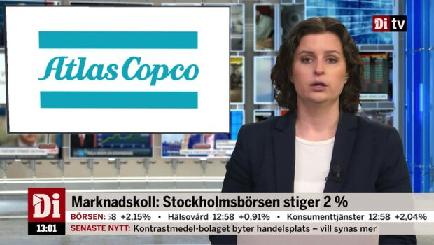 Di Nyheter 13.00 11 december - Atlas Copcos aktie stiger