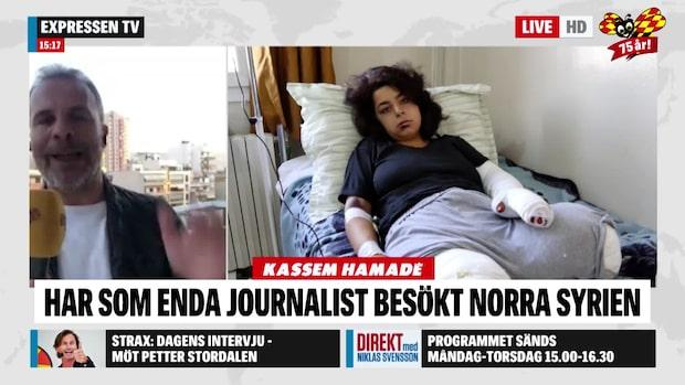 """Kassem Hamadé """"Väldigt spänt läge i hela Syrien"""""""