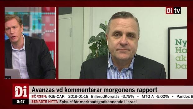 Avanzas vd, Rikard Josefson, om den starka rapporten