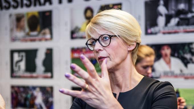 Elisabeth Svantesson är inte överens med sin företrädare om amorteringskraven. Foto: ANNA-KARIN NILSSON