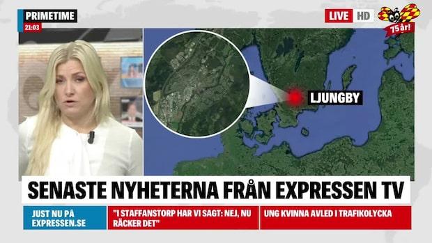 Ung kvinna avled i trafikolycka i närheten av Ljungby