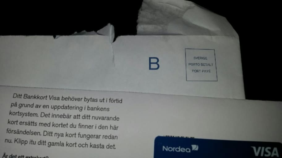 spärra bankkort nordea