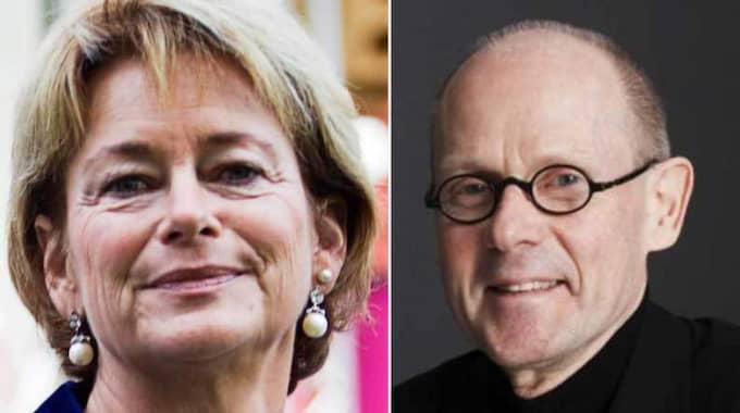 Lena Adelsohn Liljeroth och Christer Larsson.