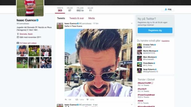 Nakenman i La Liga-spelarens selfie