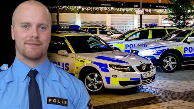 Polisen Emil Schyberg upplever hur brotten mot både vanliga medborgare och blåljuspersonal blir värre. Samtidigt är straffen alldeles för låga, menar han. Foto: PRIVAT och ALEX LJUNGDAHL