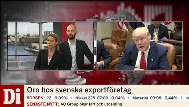 Trumps politik skapar oro hos svenska exportföretag