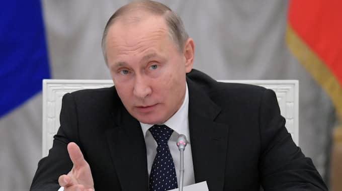 Vladimir Putin talade inför samlade toppmilitärer i helgen. Foto: Alexei Druzhinin/AP/TT