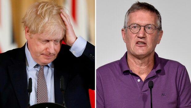 Här får Tegnell frågan om vad han sagt till Boris Johnson