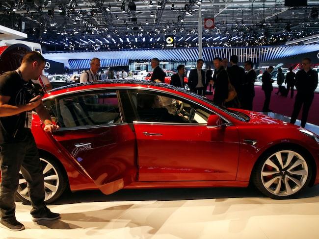 Ingen kommer dock få provköra Teslan vid eCarExpo på Svenska Mässan.