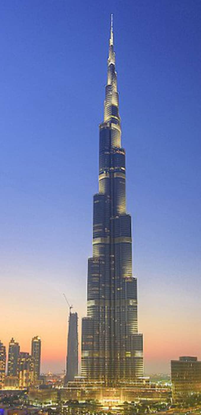 Så här ser dagens högsta byggnad, Burj Khalifa, ut. Foto: Getty