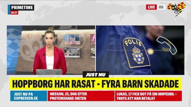 Kivik: Hoppborg har rasat - fyra barn skadade