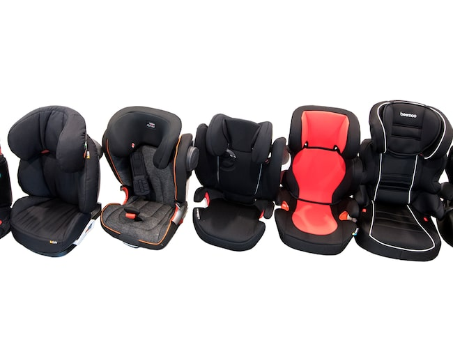 Priset på stolarna i testet varierar mellan en femhundring och flera tusen.