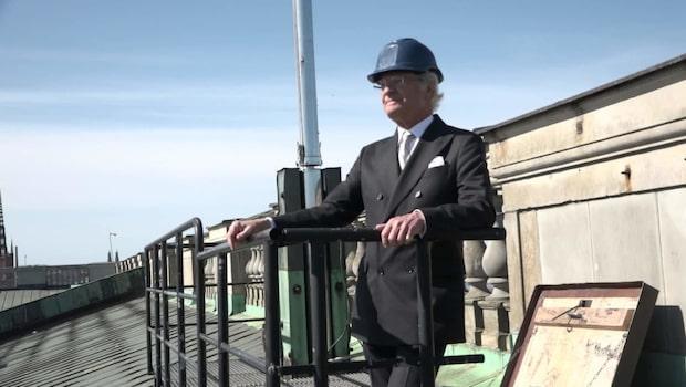 Nu ligger Kungens 70-årspresent på taket