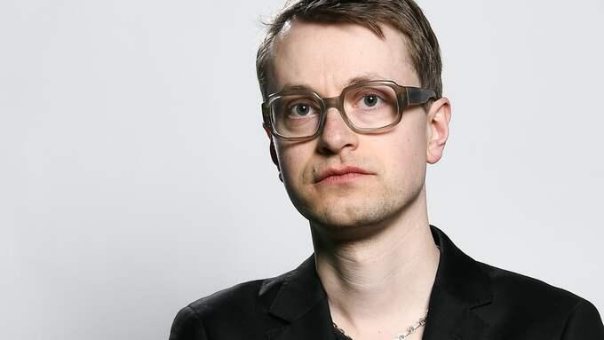 Malte Persson, författare och litteraturkritiker på Expressens kultursida. Foto: ALEX LJUNGDAHL