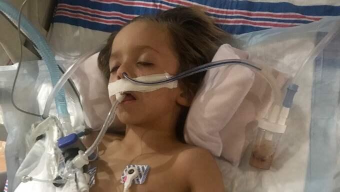 Sexårige Ryker har smittats av rabies. Foto: Privat