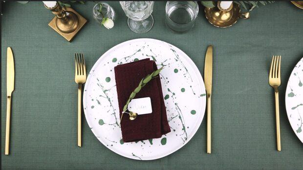 Enkel och fin bordsplacering