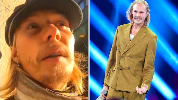 """Flickvännens stöd till Caspar under """"Idol"""""""