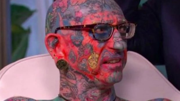 Paul är tatuerad från topp till tå