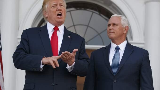 Donald Trump och USA:s vicepresident Mike Pence. Foto: EVAN VUCCI / AP TT NYHETSBYRÅN