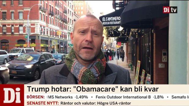 """Trump hotar """"Obamacare"""" kan bli kvar"""