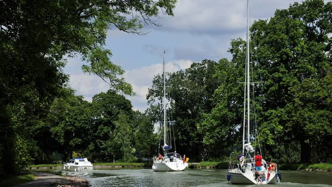 Båtens vansinnesfärd kunde orsakat stora skador på Göta Kanal. Foto: CHRISTIAN ÖRNBERG