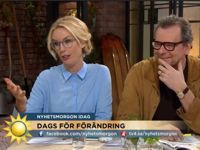 Kaos uppstod i morgonens Nyhetsmorgon.