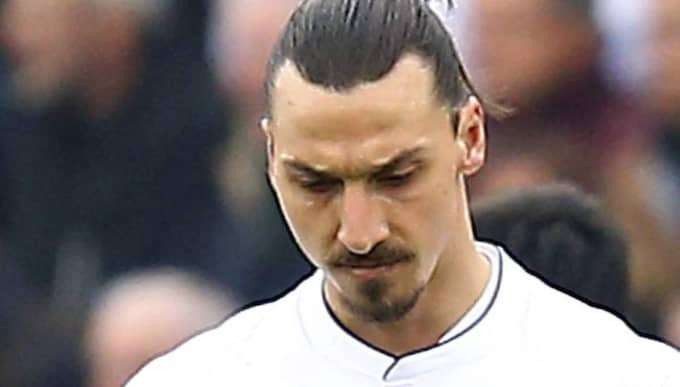 Zlatan Ibrahimovic under matchen. Foto: Manuel Blondeau