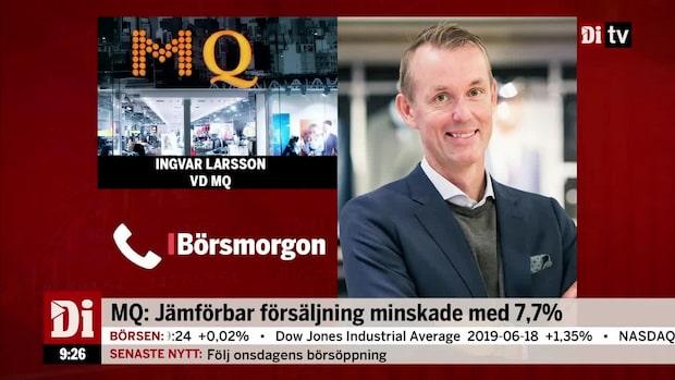 Larsson, vd MQ: Sommarplaggen som tynger