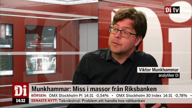 Munkhammar: Miss i massor från Riksbanken