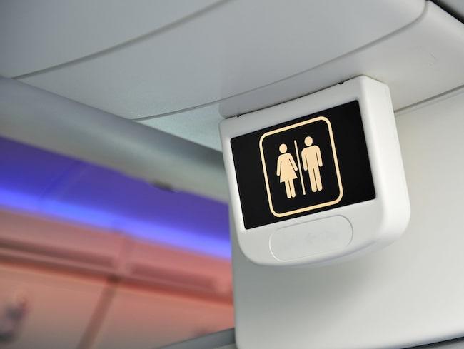 En man låste in sig på toaletten under en långflygning mellan Perth och London.