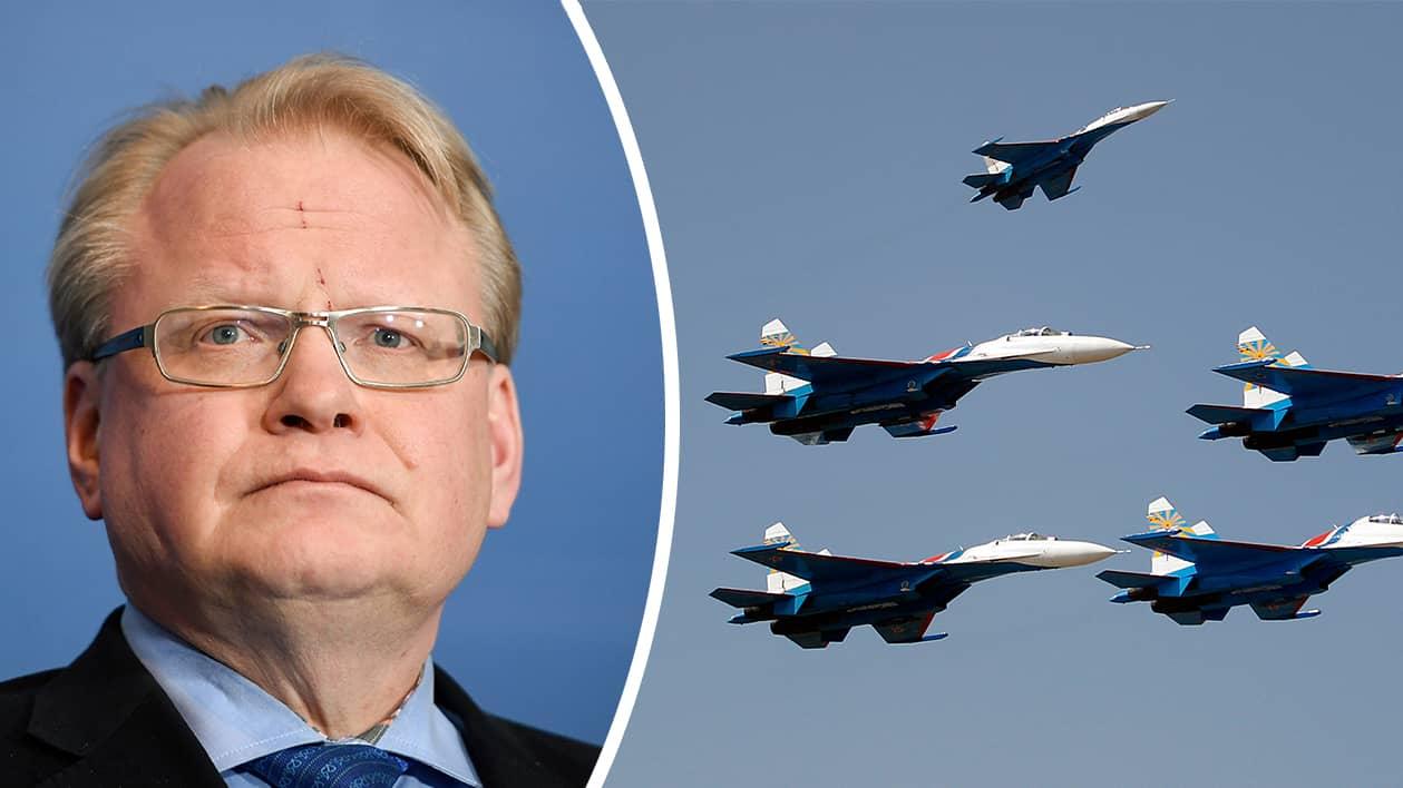 Försvarsmakten  Ryskt stridsplan flög nära svenskt plan c78637270045a